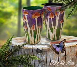 Mill Creek Mushroom Mugs