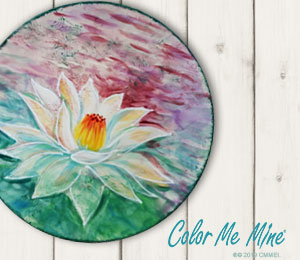 Mill Creek Lotus Flower Plate